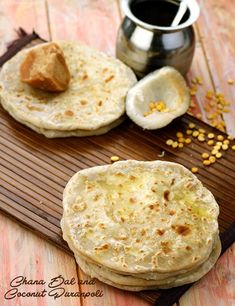 It is a wholesome and delicious snack made of chana dal and coconut sweetened with jaggery and flavoured mildly with spices like elaichi. Indian Desserts, Indian Sweets, Indian Dishes, Indian Food Recipes, Indian Breads, Chapati Recipes, Puri Recipes, Savory Snacks, Yummy Snacks