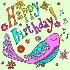 Happy Birthday - Bird