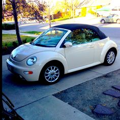 Could this possibly be Mimi's new toy? Volkswagen New Beetle, Volkswagen Karmann Ghia, Beetle Car, Vw Beetle Convertible, Vw Cabrio, Mini Cooper, Cute Cars, Small Cars, Vw Beetles