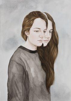 Henrietta Harris, 'dolce viso,' 2014,Watercolor- Robert Fontaine Galleria