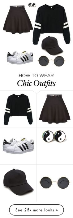 """Adidas girl outfit"" by josephortabusiness on Polyvore featuring adidas Originals, New Look and rag & bone"