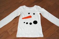 Schneemann-Shirt zum selbst machen ... ganz ohne Nähen!!! Mehr