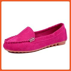 Women's Plat Shoes, Mchoice 2017 Fashion Women Flats Shoes Slip On Comfort Shoes Flat Shoes Loafers (40, Hot Pink) - Loafers and slip ons for women (*Amazon Partner-Link)
