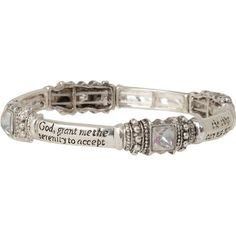 Heirloom Finds Serenity Prayer Recovery Stretch Bracelet Silver Tone with Aurora Borealis Crystals Heirloom Finds,http://www.amazon.com/dp/B009UU7T8W/ref=cm_sw_r_pi_dp_8-iVsb0PWNJG6JYF