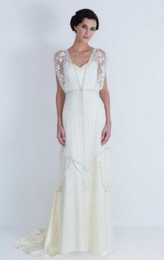 """Catherine Dean Lita Dress $2400 - """"Can't Afford It? Get Over It"""" from the Brokeass Bride - here are much less expensive gowns similar to it"""