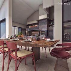 Área de lazer com personalidade! Projeto Guapo Arquitetura e Interiores.  Modelagem e render @raisamak #projeto #arquiteta #arquitetura #arquitetuardeinteriores #arquiteturaedesign #decor #interiorismo #interiordesign #designdeinteriores #decoracao #instadecor #render #3D #sketchup #3dsmax #vray #vrayrender #archviz #instarender #decoração #churrasqueira #gourmet #architect #portobellolovers #mesadejantar #segundafeira #homedecor #photooftheday @unumdesign #unum