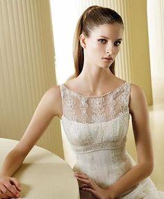 8b1fe68e7157d modest vintage wedding dress Wrap Wedding Dress