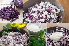 Ensalada de col lombarda y mayonesa vegana - 2