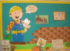 Bob the Builder Key Word Wall classroom display photo - Photo gallery - SparkleBox early childhood