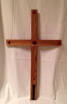 Elm Cross with Padauk overlays and Wenge Inlay by ArtistryGrace, $200.00