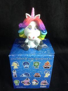 Inside Out Rainbow Unicorn Disney Pixar Funko Mystery Minis Vinyl Figures