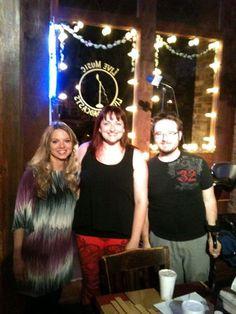 Singer-songwriter Erisa Rei with Brenda Allen and Matt Griffith.
