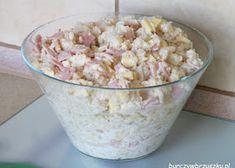 Surówka krymska - Burczy w brzuszku Mayonnaise, Potato Salad, Oatmeal, Potatoes, Breakfast, Ethnic Recipes, Food, Cauliflowers, Hams