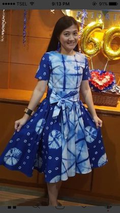 Fashion Drawing Dresses, Fashion Dresses, Shibori Tie Dye, Shibori Fabric, Batik Fashion, Women's Fashion, Casual Frocks, Tie Dye Crafts, Batik Dress