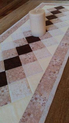 Modern Quilted Table Runner, Black White and Grey Wallhanging, Reversible Tablerunner, Modern Table Quilted Table Runners Christmas, Patchwork Table Runner, Halloween Table Runners, Table Runner And Placemats, Table Runner Pattern, Small Quilts, Mini Quilts, Modern Table Runners, Place Mats Quilted