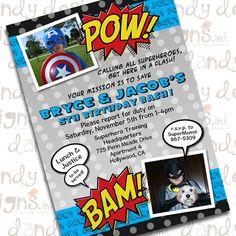 Super hero invitation.. #super hero #invitations #party