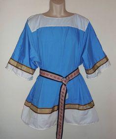 Adult Tunic w Trim Sz Lg/XLg Viking Medieval SCA Norseman Renaissance Saxon #Handmade #TopsShirts