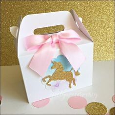 Rainbow Unicorn Party Mini Favor Boxes Magical Unicorn Baby Shower or Birthday Party Treat Candy Boxes Set of 12