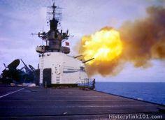 The USS Hornet firing her batteries. Uss Hornet Cv 12, American Aircraft Carriers, Capital Ship, Fire Powers, 2 Photos, Pictures, Flight Deck, United States Navy, Navy Ships