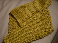 Coisas de Hilda: Uma gola fácil em tricô.