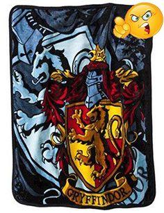 "#pillowcases #Harry Potter Gryffindor Shield 46"" x 60"" Micro Raschel Fleece Throw Blanket.This quality 100% polyester super plush Harry Potter throw blanket meas..."