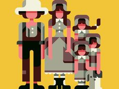 This illustration was inspired by the TV show Little House on the Prairie.
