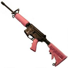 """Pink AR-15 by Del-Ton. The DT Sport is chambered in .223 Remington, has a 16"""" lightweight barrel, M4 6-position stock and weighs only 5.8 lbs. Made in the U.S.A. Click the picture to see more of the quality features of this affordable AR."""