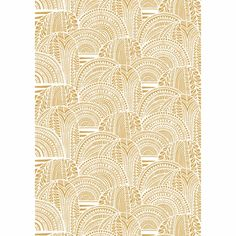 Marimekko Vuorilaakso Gold Sateen Fabric Mountains of riches. Gold mountains take on a special shimmer thanks to the sateen finish of the Marimekko Vuorilaakso (Mountain Valley) Fabric. Marimekko Fabric, Modern Fabric, Textiles, Display, Holiday Decorations, Rugs, Gold, Fabrics, Bathroom