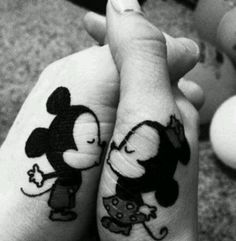 This would definitely have to be the cutest couples tattoo idea EVER!