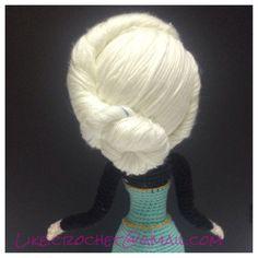 Elsa coronation hair updo frozen Disney amigurumi crochet doll
