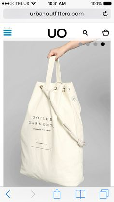 Izola Soiled Garments Laundry Bag - My Bag Ideas Tote Bags, My Bags, Bag Packaging, Mode Chic, Linen Bag, Bag Making, Fashion Bags, Shopping Bag, Leather Bag