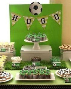 centros de mesa de futbol para cumpleaños