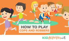 How to Play Cops and Robbers: Cops and robbers can be played inside or outside by almost any age group. Here are the rules of play and how to set it up. Gym Games For Kids, Kids Gym, Pe Games, Yoga For Kids, Exercise For Kids, Games To Play, Party Games, Team Building Activities, Activities For Kids