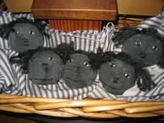 Primitive Black Annie Bowl Fillers/Ornies