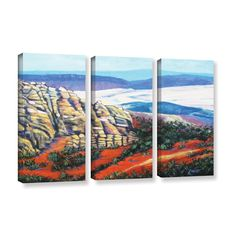 ArtWall 'Gene Foust's Rocky Mountain Living' 3-piece Gallery Wrapped Set