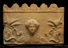 Terracotta relief with Ceres, goddess of harvest, 1st century A.D. Museo Kircheriano, Rome