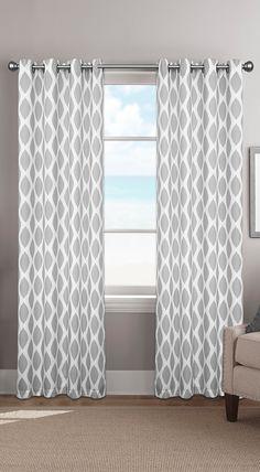 Better Homes and Gardens Metallic Trellis Gold Foil Curtain Panel ...