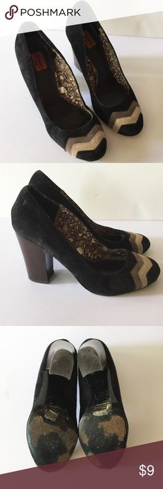 "MISSONI FOR TARGET SUEDE CHEVRON PUMPS Used. Approximately 4"" heel. See pics for wear. Missoni for Target Shoes Heels"