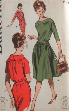 60s dress pattern / 1960's Butterick sewing pattern by vintagewise, $26.00