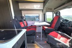 Fiat Ducato Custom Camper by Bimbos Van . A Custom Van Conversion adapted to our customer needs, with 4 seats traveling and sleeping. Ducato Camper, Fiat Ducato, Van Conversion Interior, Camper Conversion, Evo, Motorhome, Custom Campers, Complete Bathrooms, Camper Trailers
