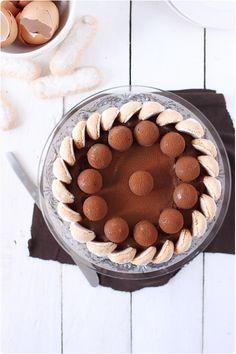 Charlotte au chocolat et billes de mousseline vanille