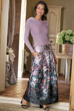 Aster Floral Skirt from Soft Surroundings