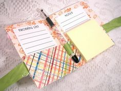 another tutorial for post it note/pen holder  with a difference.