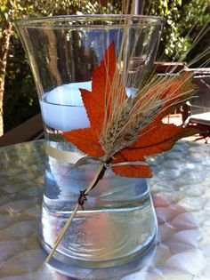 A simplified take on Oktoberfest centerpieces.... inspired by wedding centerpieces