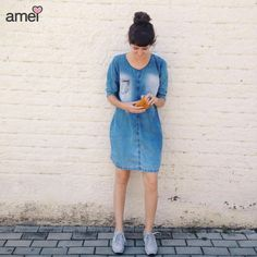 jeans soltinho  #lojaamei #vestido #jeans #azul #verao #lindo