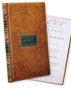 George Washington's personal copy of the Acts of Congress, which includes the…