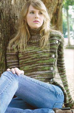 Receita de Tricô: Casaco em tricô com botões