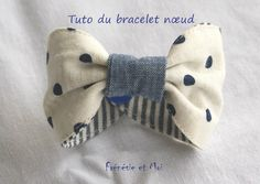 Bracelet {nœud} DIY – Frénésie et moi – Couture - To Have a Nice Day Diy Jewelry Holder, Diy Jewelry Making, Diy Accessoires, Memory Pillows, Baby Couture, Creation Couture, Diy Hair Accessories, Sewing Projects, Crochet