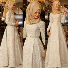 I don't wear a hijab but this dress is so pretty Islamic Fashion, Muslim Fashion, Modest Fashion, Hijab Fashion, Fashion Dresses, Muslim Dress, Hijab Dress, Eid Outfits, Trend Fashion
