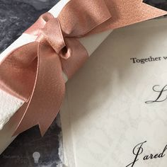 Wedding invitation scroll. DIY wedding invitation. Make your own scroll invitations. Handmade paper invitation scroll.  Rose gold, copper wedding